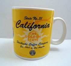 Starbucks Coffee Cup Mug 1999 California CA State No 31 Golden State Large 20 oz #Starbucks