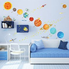 Decowall-DM-1501-The-Solar-System-Wall-Stickers-Decals-Children-Room