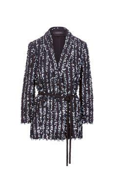 Thakoon Tie Waist Sequin Jacket #ad