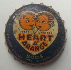 Heart O' Orange Soda, bottle cap | Harrison Orange Product Inc., Chicago, Illinois USA