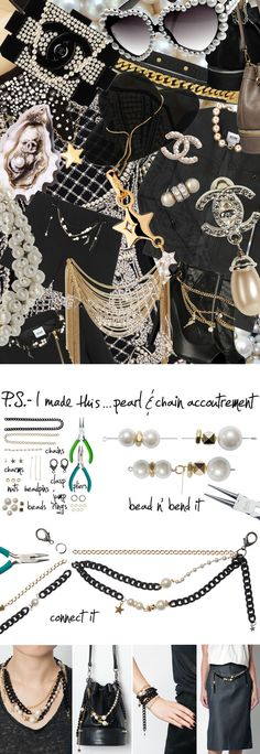 P.S.- I made this...Pearl & Chain Accoutrement inspired by @moschinofficial #PSIMADETHIS #DIY