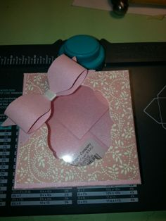 Cute little box made with my envelope punch board.