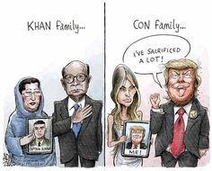 Best Donald Trump Cartoons of 2016: Khan vs. Trump