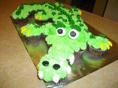 crocodile cupcake cake — Children's Birthday Cakes