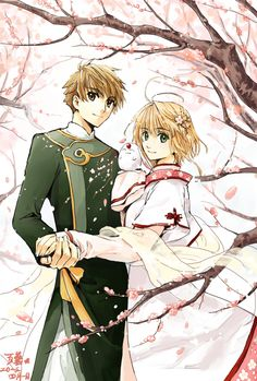 tsubasa chronicle,  clone syaoran and clone sakura parents of syaoran that is the original that his father was cloned from.... confused yet?