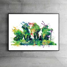 Teenage Mutant Ninja Turtles watercolor ART PRINT. Only one size available- 11X17in.  Browse our full collection here: