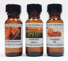 3 Bottles Set, 1 Spiced Pumpkin, 1 Harvest Spice, 1 Pumpkin Pie Fl Oz Each Premium Grade Scented Fragrance Oils By Crazy Candles >>> Additional details at the pin image, click it : aromatherapy oils Fall Essential Oils, Essential Oil Diffuser, Pumpkin Pie Spice, Spiced Pumpkin, Aromatherapy Oils, Candle Making, Fragrance Oil, Soap Making, Feel Good