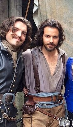 Tom Burke and Santiago Cabrera. BBC The Musketeers. Athos and Aramis.