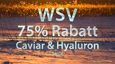 Winterschlussverkauf - 75% Rabatt auf unsere Caviar und Hyaluron Serie