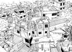 line drawing favela2+copy.jpg 1,400×1,013 pixels