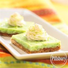Almond Key Lime Bars from Pillsbury� Baking