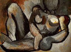 Пабло Пикассо. Лежащая обнаженная, 1908 год