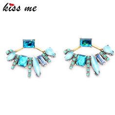Cheap jewelry chunky, Buy Quality jewelry tweezer directly from China jewelry cab Suppliers: KISS ME 2016 New Retro Detachable Fanned Stud Earrings Fashion Jewelry Hot Sale Crystal Earrings for Women Crystal Earrings, Women's Earrings, Crystal Rhinestone, Jacket Earrings, Fashion Earrings, Fashion Jewelry, Women Jewelry, Fashion Clothes, Retro