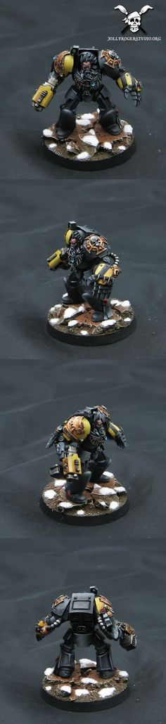 Black Wolf Guard Terminator with Storm Bolter & Power Fist
