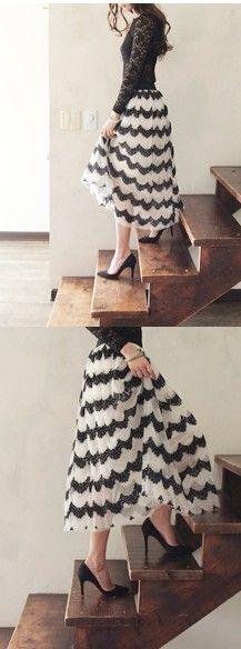 chevron lace skirt (Gmarket)