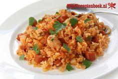 Griekse tomaten-rijst recept