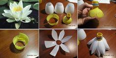 DIY Art Project: Plastic Flowers