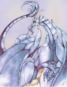 Angel Ortiz -Dragon of the mist - Mythology Art
