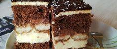 Recept Luxusní řezy s pařížskou šlehačkou Cake Bars, Sweet Cakes, Tiramisu, Rum, Delicious Desserts, Nutella, Bakery, Ethnic Recipes, Food