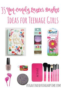 Here is a list of 35 Easter Basket Ideas for Teenage Girls, and the best part is that none of them involve candy! gifts for teenagers 35 Easter Basket Ideas for Teenage Girls - Frugal Finds During Naptime Teenager Easter Baskets, Easter Baskets For Toddlers, Boys Easter Basket, Easter Bunny, Easter Eggs, Easter Gift, Easter Crafts, Trending Christmas Gifts, Teenage Girl Gifts