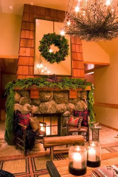 """Unique Fireplace Surround Design - I love it! the adventures of tartanscot™: """"Because We Need a Little . . . """""""