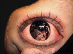 portrait inside of eye tattoo | Tumblr