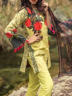eb1a374e9b Buy kapray Lawn Collection Unstitched 3 Piece Verdant in Lime Green from  LawnCollection.pk & Get your outfit at doorstep anywhere in Pakistan.