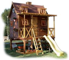 Wood Outdoor Playhouses for Kids - Architectures, Ideas Design Ideas - Interior Design Ideas