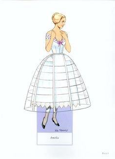 Fashions of the Old South Paper Dolls by Tom Tierney;  Dover Publications,1989:  Plate 1 (of 15)