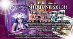 My long awaited Conscious Spirit Oracle Deck is due for release next month- JUNE 2013!!!  I am holding a competition where you can win a signed copy.  To enter please visit my website www.kimdreyerart.com or my facebook page - www.facebook.com/kimdreyerart