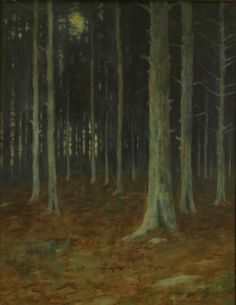 """""""'Pines,"""" Charles Warren Eaton, 1905, watercolor, 22 × 28"""", private collection."""