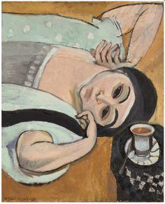 Lorette a la tasse de cafe - Henri Matisse, 1917. Kunstmuseum Solothurn, Switzerland #matisse