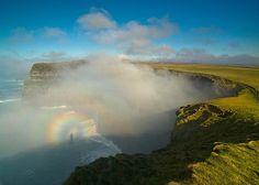 Rainbow at the Cliffs of Moher, County Clare, Ireland - - Image from Tourism Ireland Wild Atlantic Way, Atlantic Ocean, Ireland Pictures, Tourism Development, Spiritual Development, Irish Landscape, Nature Landscape, County Clare, Cliffs Of Moher