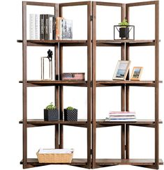 Looking for Modern Dark Brown Wood Open Bookcase Room Divider, 4 Tier Display Shelf Rack ? Check out our picks for the Modern Dark Brown Wood Open Bookcase Room Divider, 4 Tier Display Shelf Rack from the popular stores - all in one. Room Divider Shelves, 4 Panel Room Divider, Wood Room Divider, Corner Bookshelves, Open Bookcase, Open Shelving, Room Dividers, Bookcases, Wood Shelves