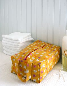 Boxy toiletry bag tutorial