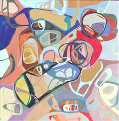 Original abstract acrylic painting on stretched canvas by Blochs, $349.00