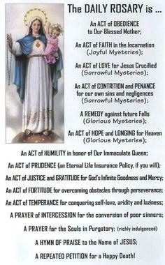 Enough said... Holy Rosary Prayer, Rosary Catholic, Catholic Prayers, My Prayer, Prayers To Mary, Special Prayers, Prayers For Healing, Catholic Beliefs, Catholic Quotes
