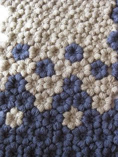 Puff Flower Crochet Pattern You Need To Learn Love Crochet, Crochet Motif, Diy Crochet, Crochet Crafts, Crochet Flowers, Crochet Projects, Knitting Projects, Puff Stitch Crochet, Crochet Stitches