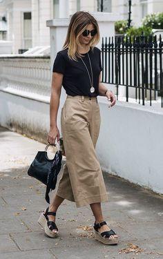 Pantacourt - look básico fashion