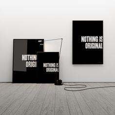 NOTHING IS ORIGINAL 100x70 - MINIMALLIVING - Wydruki i plakaty
