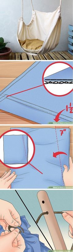 Check out the tutorial how to make a DIY hammock chair for home decor @istandarddesign