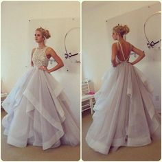 Charming A-Line Beading Christmas Party Dresses,Long Party Dresses,Christmas Dresses On Sale, T193 - Thumbnail 2