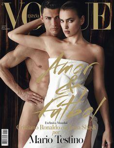 Cristiano Ronaldo & Irina Shayk On The Cover Of Vogue España June 2014 (Photographed by Mario Testino) Vogue Covers, Vogue Magazine Covers, Fashion Magazine Cover, Fashion Cover, Fashion Tape, Fashion Basics, Fashion Moda, Irina Shayk Cristiano Ronaldo, Royalty