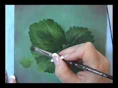 Acrylic Painting Techniques - How to Paint Leaves