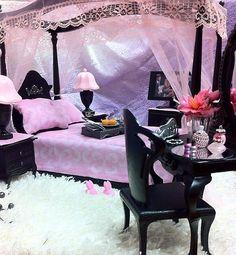 OOAK Barbie Bedroom Furniture House Vanity Mirror Chair TV Lamps Accessories Lot | eBay