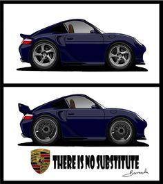 Porsche 911 996 caricature  more my works at: http://tonybarracuda.deviantart.com/