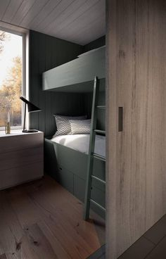 "Outstanding ""bunk bed designs diy"" information is available on our website. Loft Spaces, Small Spaces, Estilo Interior, Modern Bunk Beds, Bunk Rooms, Bunk Bed Designs, Home Bedroom, Interiores Design, Cabana"