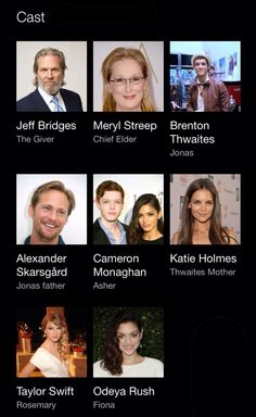 The cast for The Giver.