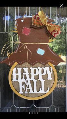 Excited to share this item from my shop: Scarecrow Fall Wooden Door Hangers, Halloween Door Hangers, Spool Crafts, Wooden Crafts, Burlap Crafts, Wooden Projects, Wood Yard Art, Wood Art, Fall Scarecrows