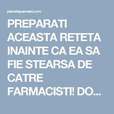 PREPARATI ACEASTA RETETA INAINTE CA EA SA FIE STEARSA DE CATRE FARMACISTI! DOAR 4 LINGURI DIN ACEST AMESTEC SI PUTETI SPUNE ADIO PENTRU TOTDEAUNA HIPERTENSIUNII ARTERIALE SI ARTERELOR INFUNDATE! Health Fitness, Healthy, Pandora, Cots, Therapy, Health And Fitness, Fitness